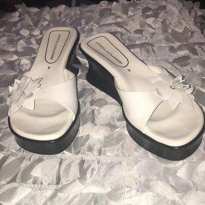 Athena Alexander White Slides Size 9